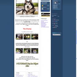 Startsidan (Home) för gamla webben
